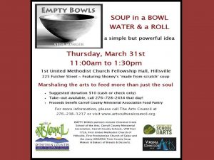 Soup in a Bowl, Water and a Roll